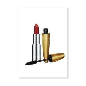 Plakat Americanflat Lipstick and Mascara, 30x42 cm