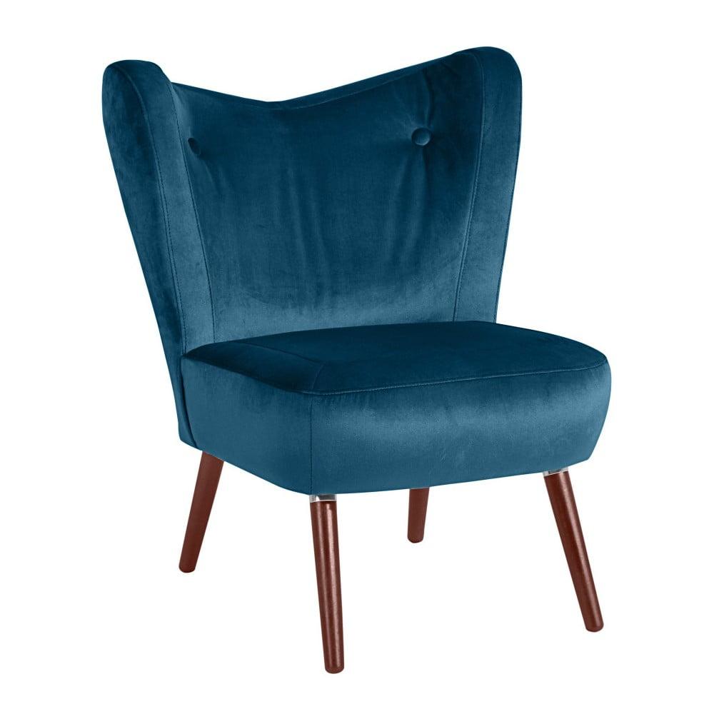 Niebieski fotel Max Winzer Sari Velvet
