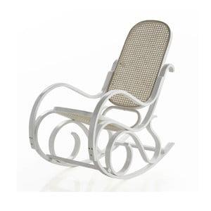 Fotel bujany z białą konstrukcją Geese Ginger