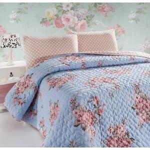 Narzuta pikowana i poszewki na poduszki Sanjay, 200x220 cm