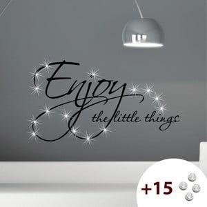 Naklejka z 15 kryształkami Swarovski MaDéco Enjoy Things