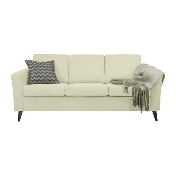 Beżowa sofa 3-osobowa z czarnymi nogami Helga Interiors Alex