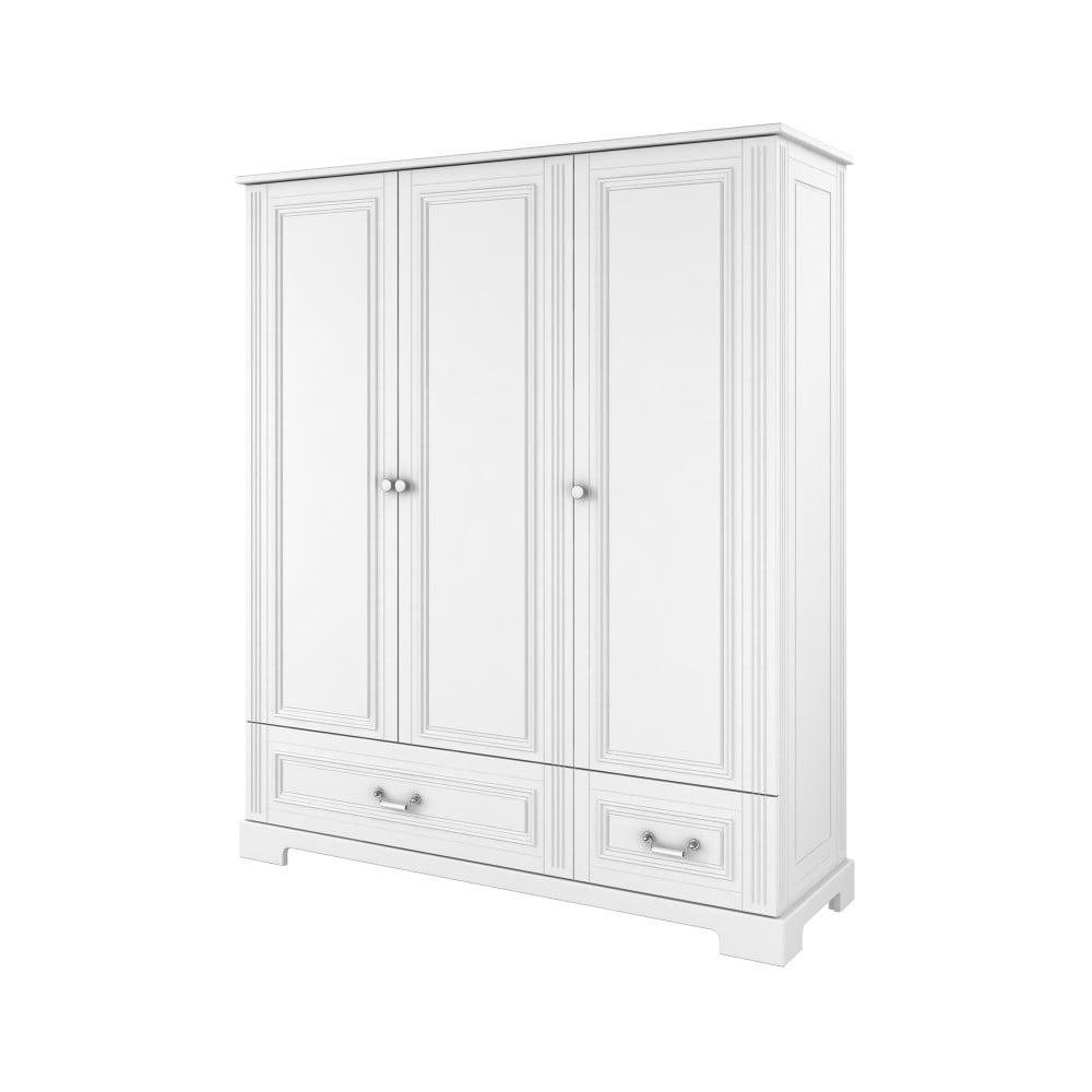 Biała szafa 3-drzwiowa BELLAMY Ines