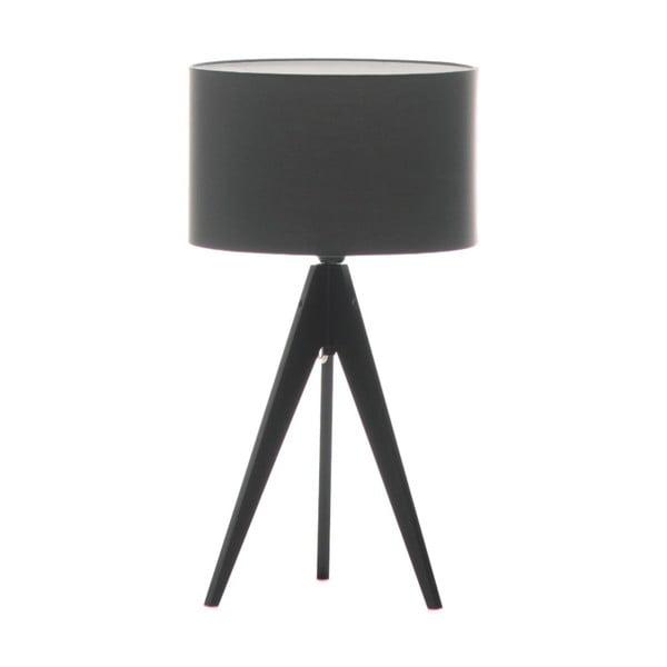 Ciemnoszara lampa stołowa 4room Artist, czarna lakierowana brzoza, Ø 33 cm