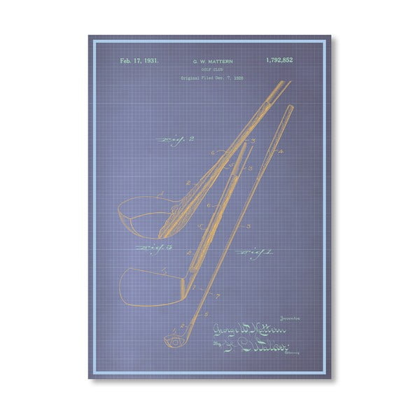 Plakat Golf Club, 30x42 cm