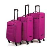 Zestaw 3 ciemnoróżowych walizek na kółkach Arsamar Davis