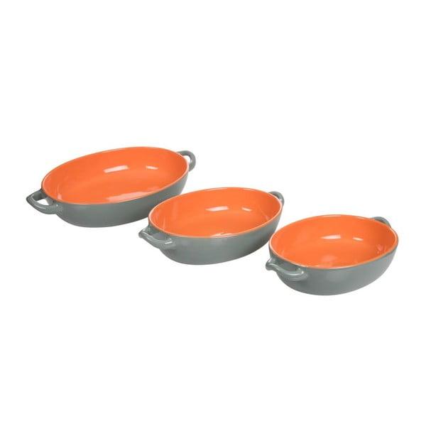 Zestaw 3 naczyń do zapiekania Roma Orange