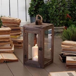 Lampion Antique Wood, 37x20 cm