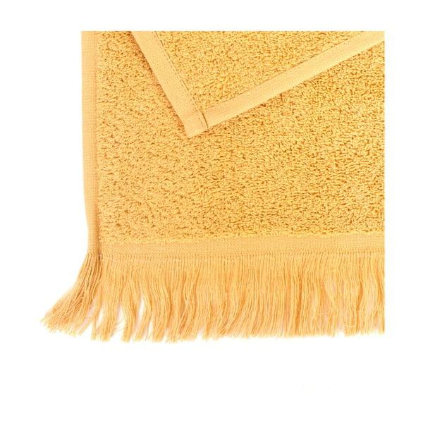 Zestaw 2 żółtych ręczników kąpielowych z bawełny Casa Di Bassi Sun, 70x140 cm