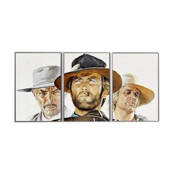 Trzyczęściowy obraz Clint, 45x90 cm