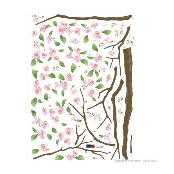 Naklejka Ambiance Cherry Blossom