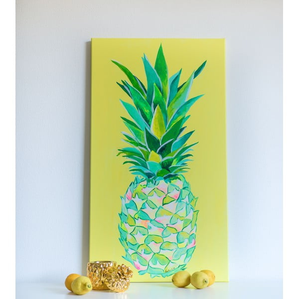 Obraz Pineapple Yellow, 50x90 cm