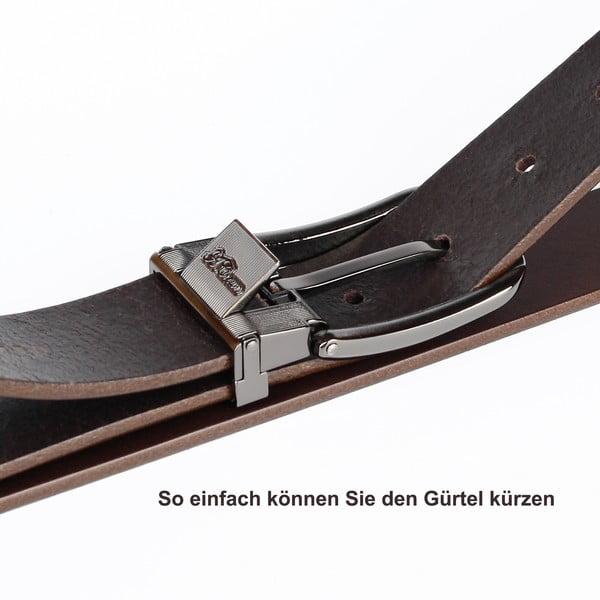 Pasek skórzany męski 1PTT10 Black, 100 cm
