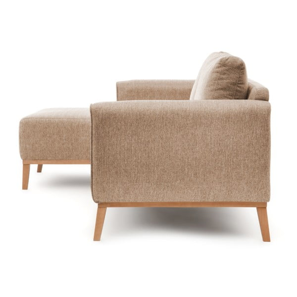 Beżowa lewostronna sofa narożna Vivonita Milton
