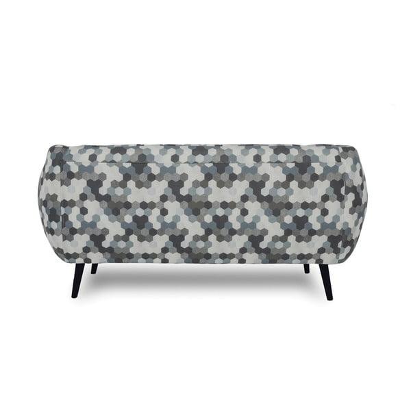 Sofa dwuosobowa Omnia Grey, czarne nóżki