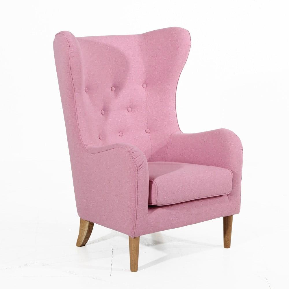 Różowy fotel Max Winzer Miriam