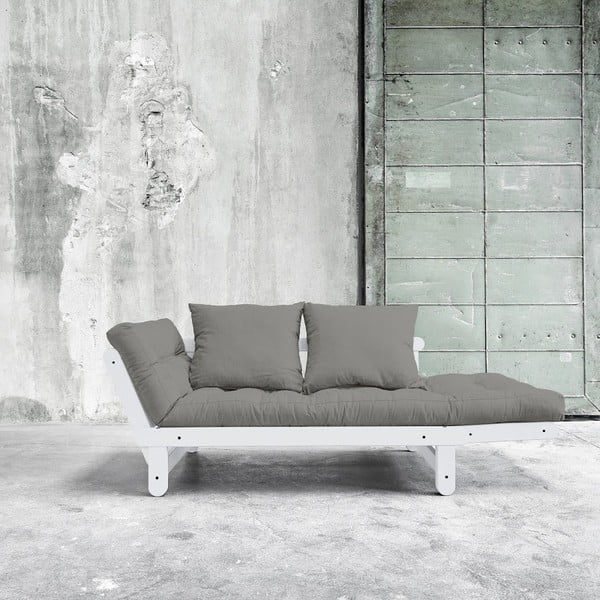 Sofa rozkładana Beat White/Granite Grey