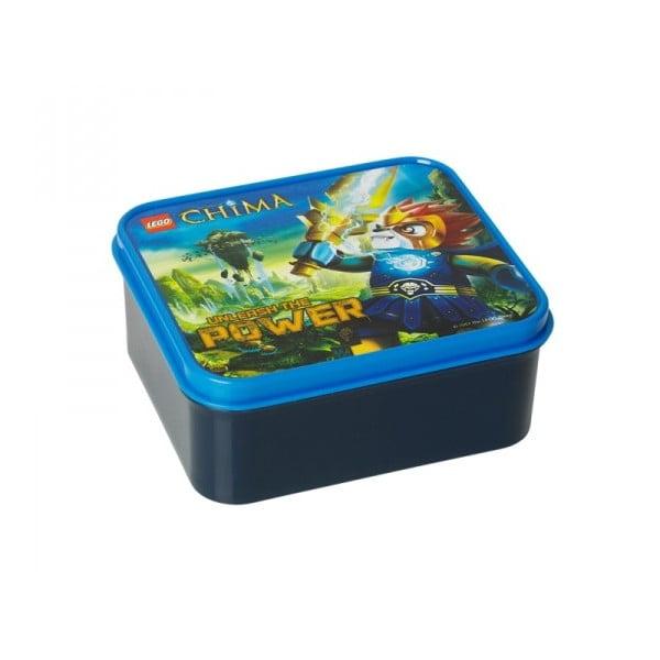 Pudełko śniadaniowe z butelką Legend of Chima, niebieskie