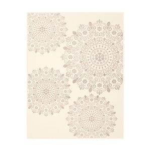 Wzorzysty koc Biederlack Mandala, 200x130cm
