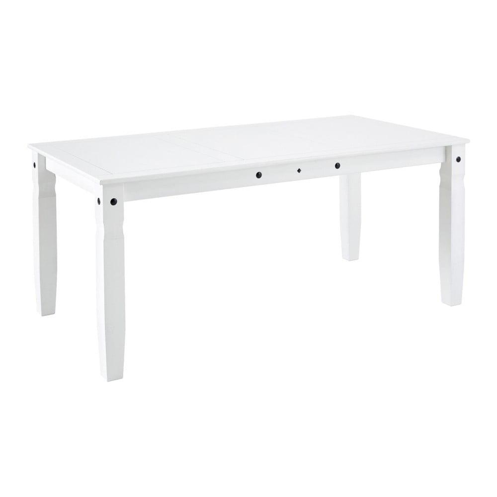 Biały stół z litego drewna sosnowego Støraa Alfredo,92x178cm