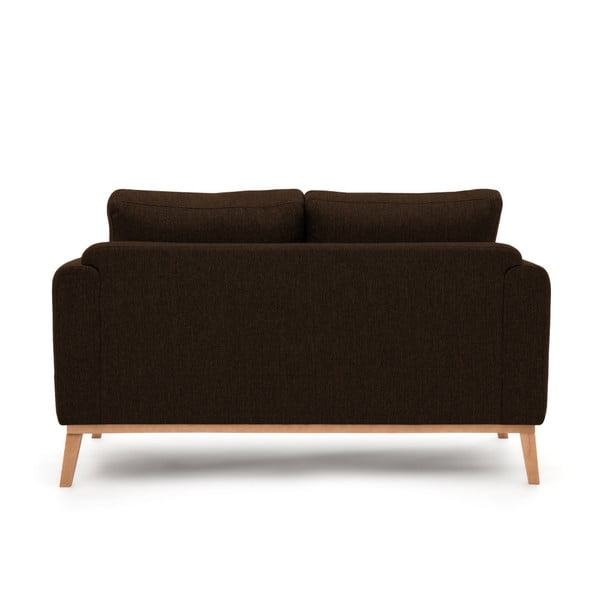 Ciemnobrązowa sofa 2-osobowa Vivonita Milton
