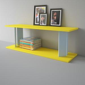 Półka Replay 110x39 cm, szaro-żółta