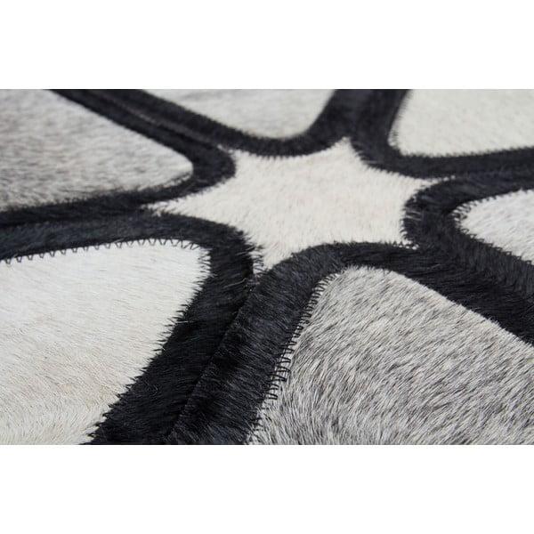Dywan skórzany Revolution Black, 160x230 cm