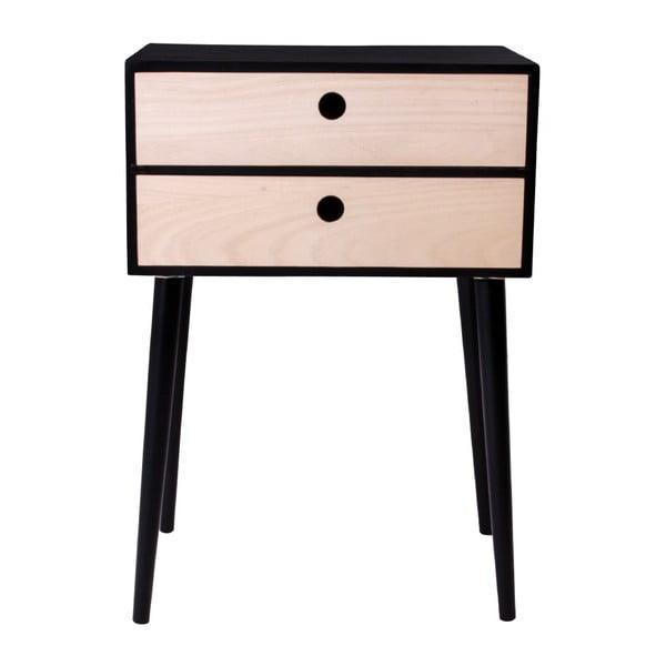 Czarny stolik drewniany House Nordic Rimini