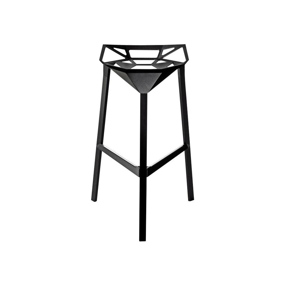 Czarny hoker Magis Officina, wys. 74 cm