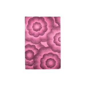 Dywan wełniany Realm, 90x150 cm, fioletowy