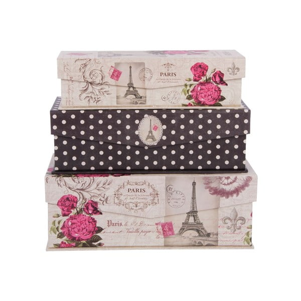 Zestaw 3 pudełek In Paris