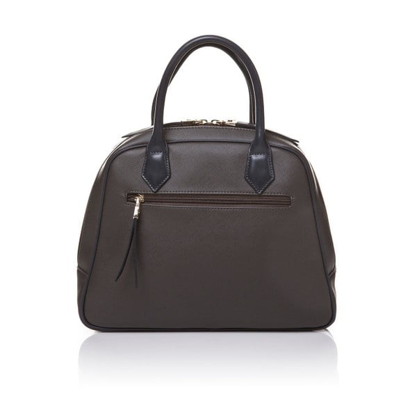 Skórzana torebka do ręki Marta Ponti Handy, szara/beżowa