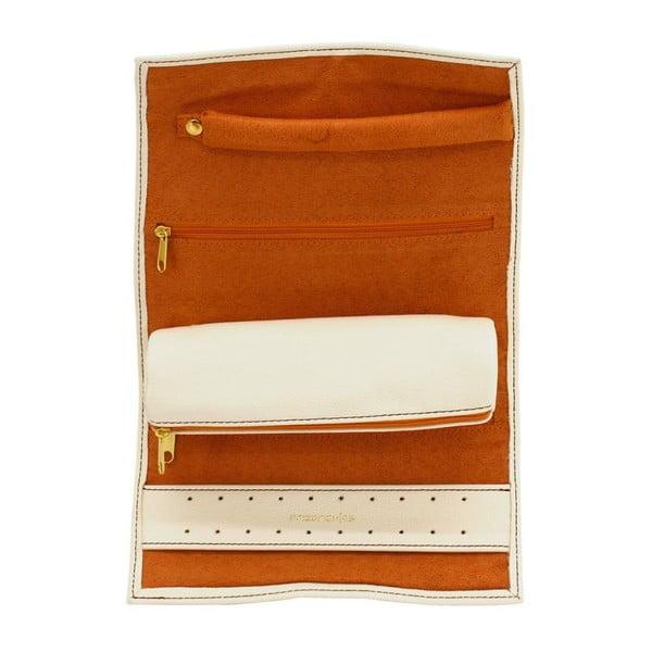 Etui na biżuterię Ascot Roll Ivory White, 20x8x6 cm