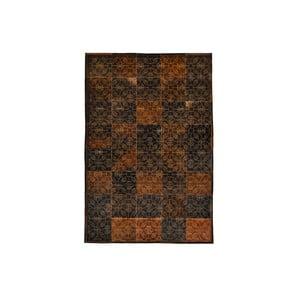 Dywan skórzany Dubai Brown and Gold, 170x240 cm