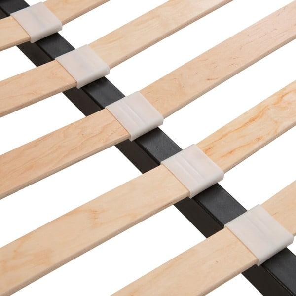 Jasnoszare łóżko z naturalnymi nóżkami Vivonita Windsor, 180x200 cm