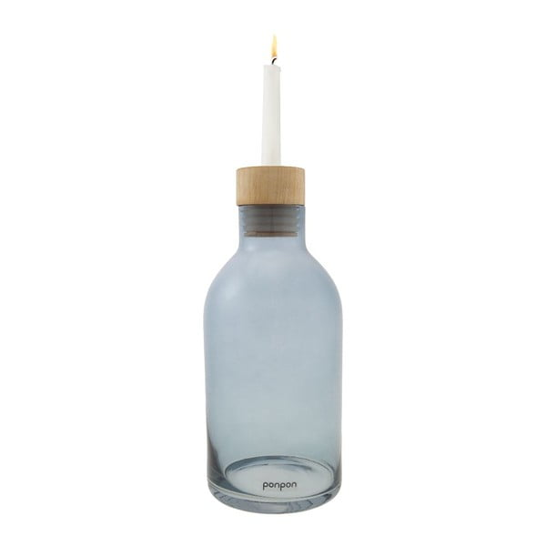 Wazon/świecznik Bottle 25,5 cm, niebieski