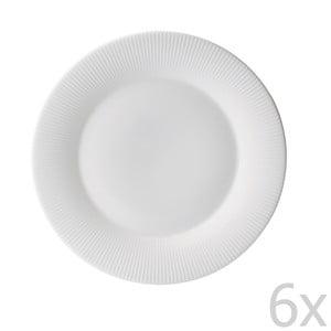 Zestaw 6 talerzy z porcelany angielskiej Flute, 21 cm
