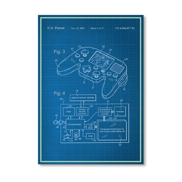 Plakat Video Game, 30x42 cm