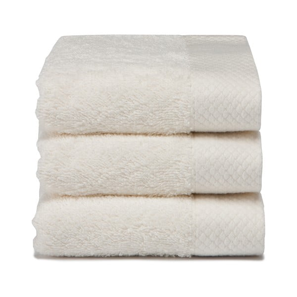 Komplet   3 ręczników Pure Cream, 30x50 cm
