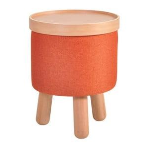 Pomarańczowy stołek ze zdejmowanym blatem Garageeight Molde, ⌀35cm