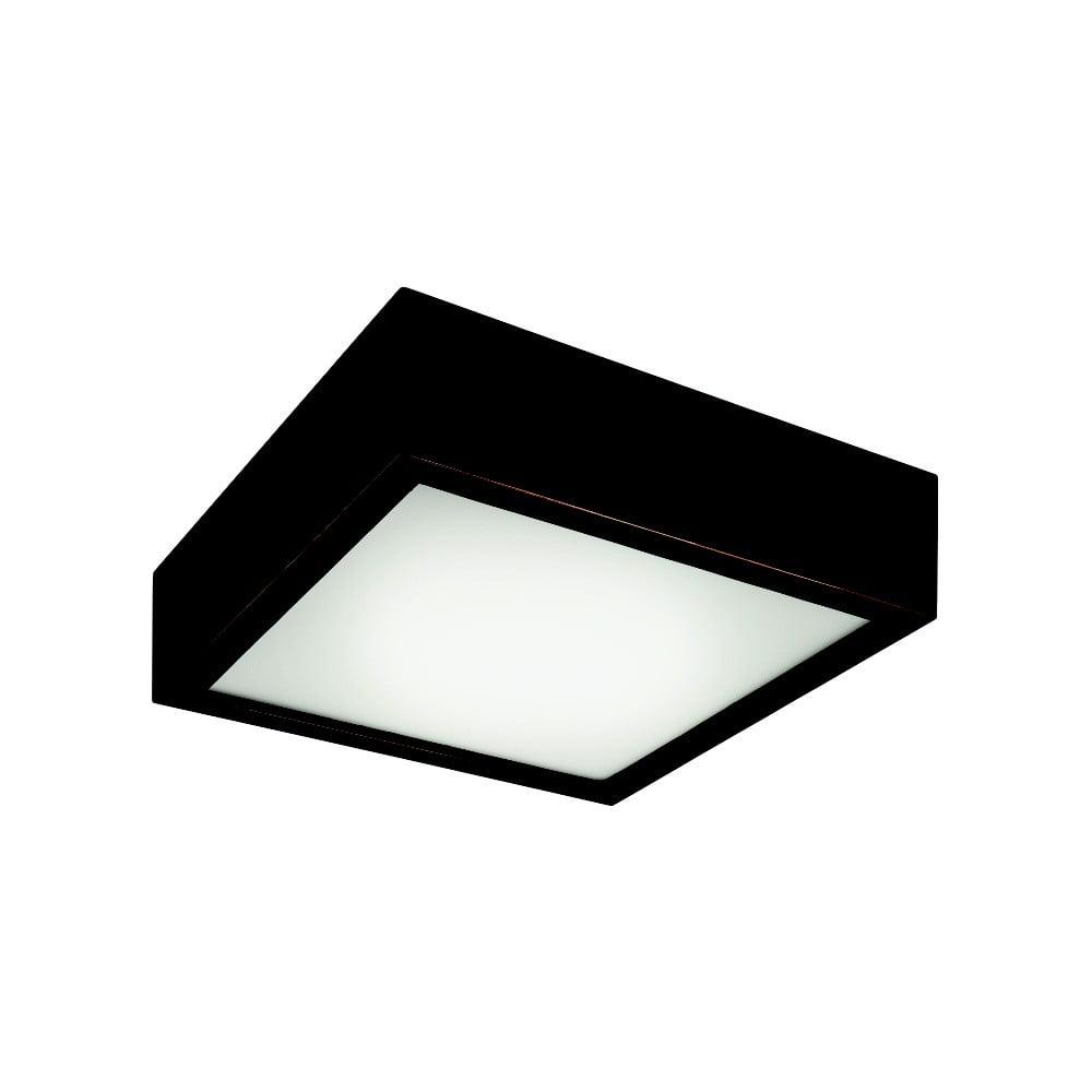 Czarna kwadratowa lampa sufitowa Lamkur Plafond, 27,5x27,5 cm