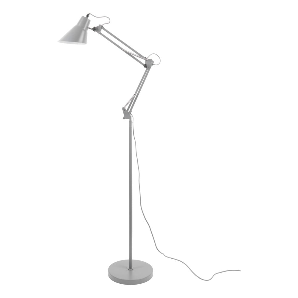 Szara żelazna lampa stojąca Leitmotiv Fit