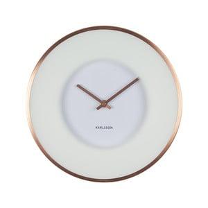 Biały zegar Present Time Illusion