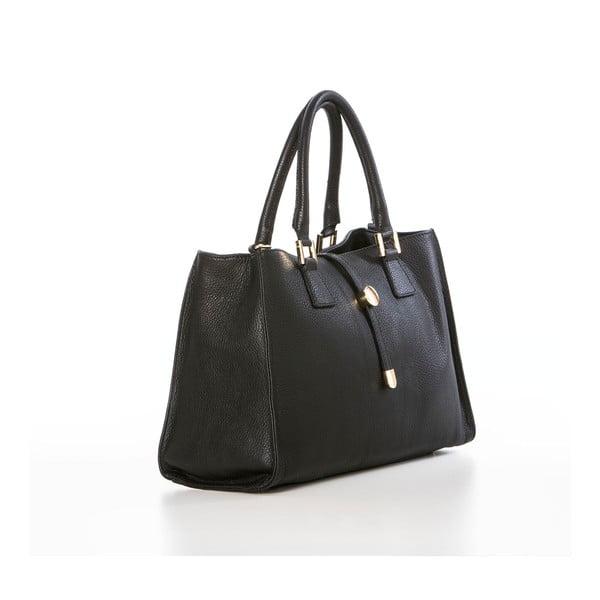 Skórzana torebka Federica Bassi Laura, czarna