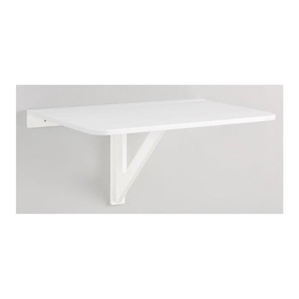 Biały składany stolik ścienny Støraa Trento, 41x80cm