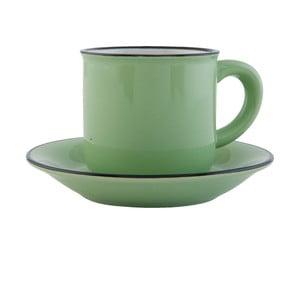 Zestaw filiżanki z podstawką Clayre & Eef, 100ml, zielony