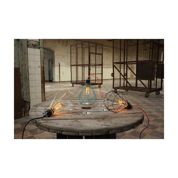Miętowa lampa wisząca z żółtym kablem Filament Style Diamond #1