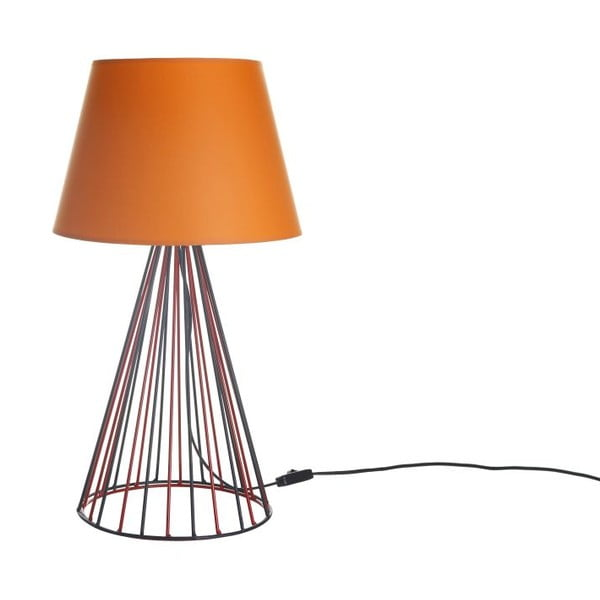 Lampa stołowa Wiry Orange/Red/Black