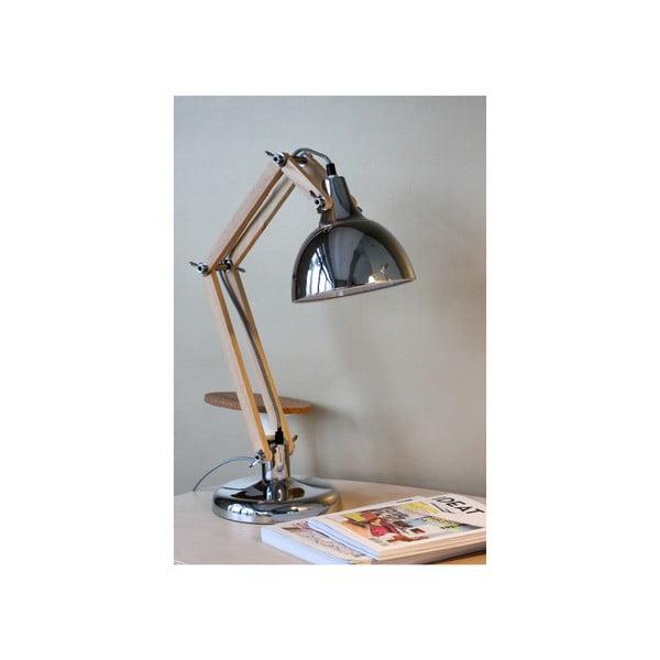 Chromowana lampa stołowa Red Cartel Dexte