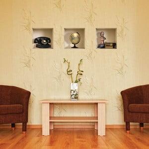 Naklejka na ścianę 3D Classiques, 3 szt.